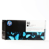Głowica + gniazdo czyszczące HP 80 black, Tusze, Materiały eksploatacyjne
