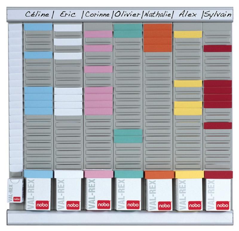 Planer tygodniowy NOBO T-Card, 8 kolumn, 24 okienka, Planery, Prezentacja