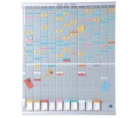 Planer roczny NOBO T-Card, 13 kolumn, 54 okienka, Planery, Prezentacja