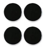 Magnesy do tablic NOBO, 30mm, 4szt, czarne, Bloki, magnesy, gąbki, spraye do tablic, Prezentacja
