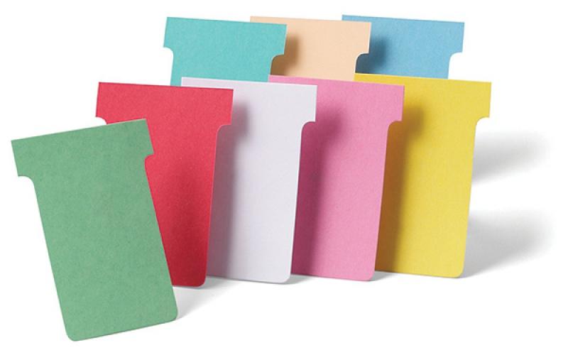 Karteczki NOBO T-Card, rozmiar 2, 100szt., różowy, Planery, Prezentacja