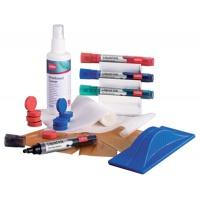 Zestaw do tablic magnetycznych NOBO, spray, gąbka, 4 markery oraz magnesy, Bloki, magnesy, gąbki, spraye do tablic, Prezentacja