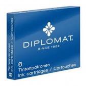 Ink cartriges DIPLOMAT, 6 psc, blue