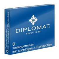 Ink cartriges DIPLOMAT, 6 psc, blue