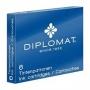 Naboje do piór DIPLOMAT, 6szt., niebieskie, Cienkopisy, pióra kulkowe, Artykuły do pisania i korygowania