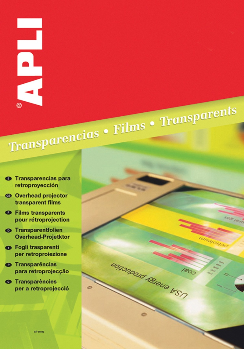 OHP Foil APLI, A4, copier, clear, 100 sheets