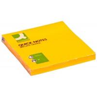 Bloczki samop. Q-CONNECT Brilliant, 76x76mm, 75 kart., pomarańczowe