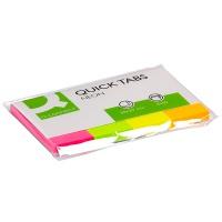 Zakładki indeksujące Q-CONNECT, papier, 20x50mm, 4x50 kart., mix kolorów, Bloczki samoprzylepne, Papier i etykiety