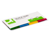 Filing Index Tabs Q-CONNECT, PP, 19x43mm, 4x50 tabs, assorted colours