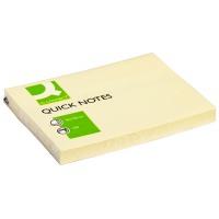 Bloczek samop. Q-CONNECT, 102x76mm, 1x100 kart., jasnożółty