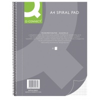 Spiral Notebook Q-CONNECT, A4, square ruled, 80sheets, 70gsm, perforation