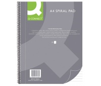 Spiral Notebook Q-CONNECT, A4, ruled, 80sheets, 70gsm, perforation