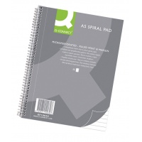 Spiral Notebook Q-CONNECT, A5, ruled, 80sheets, 70gsm, perforation