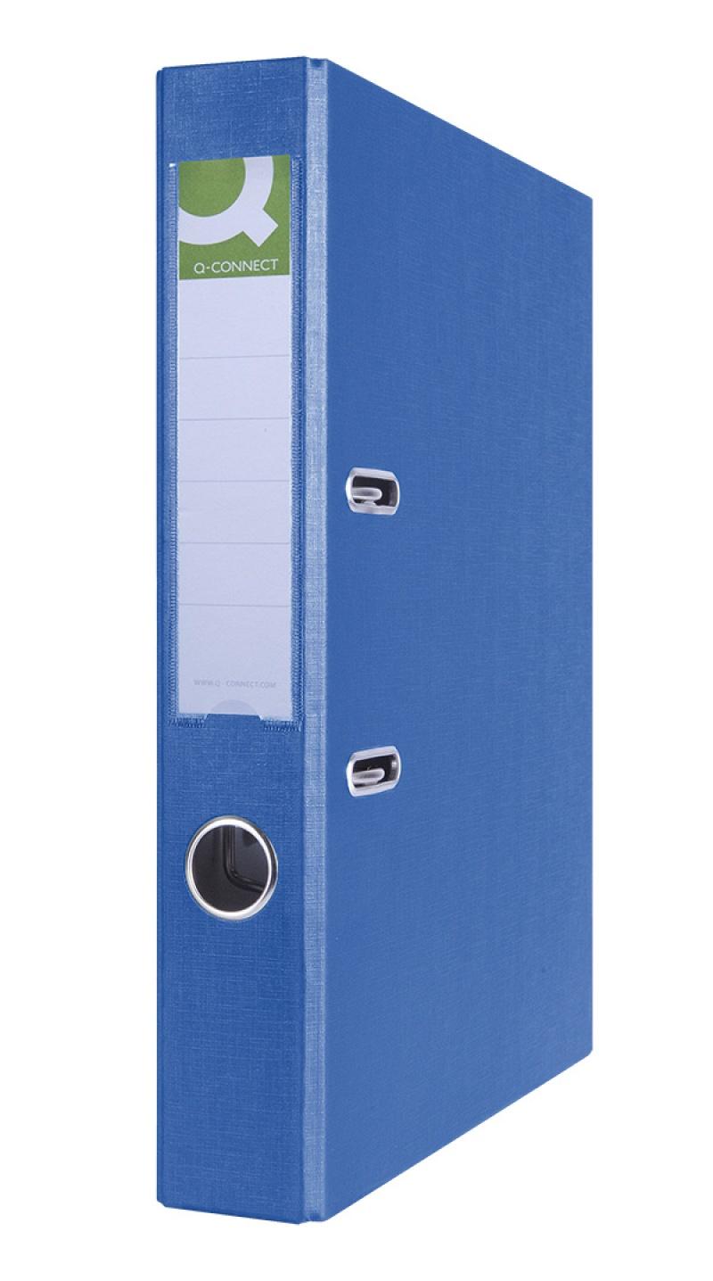 Segregator Q-CONNECT Hero, PP, A4/55mm, niebieski, Segregatory polipropylenowe, Archiwizacja dokumentów