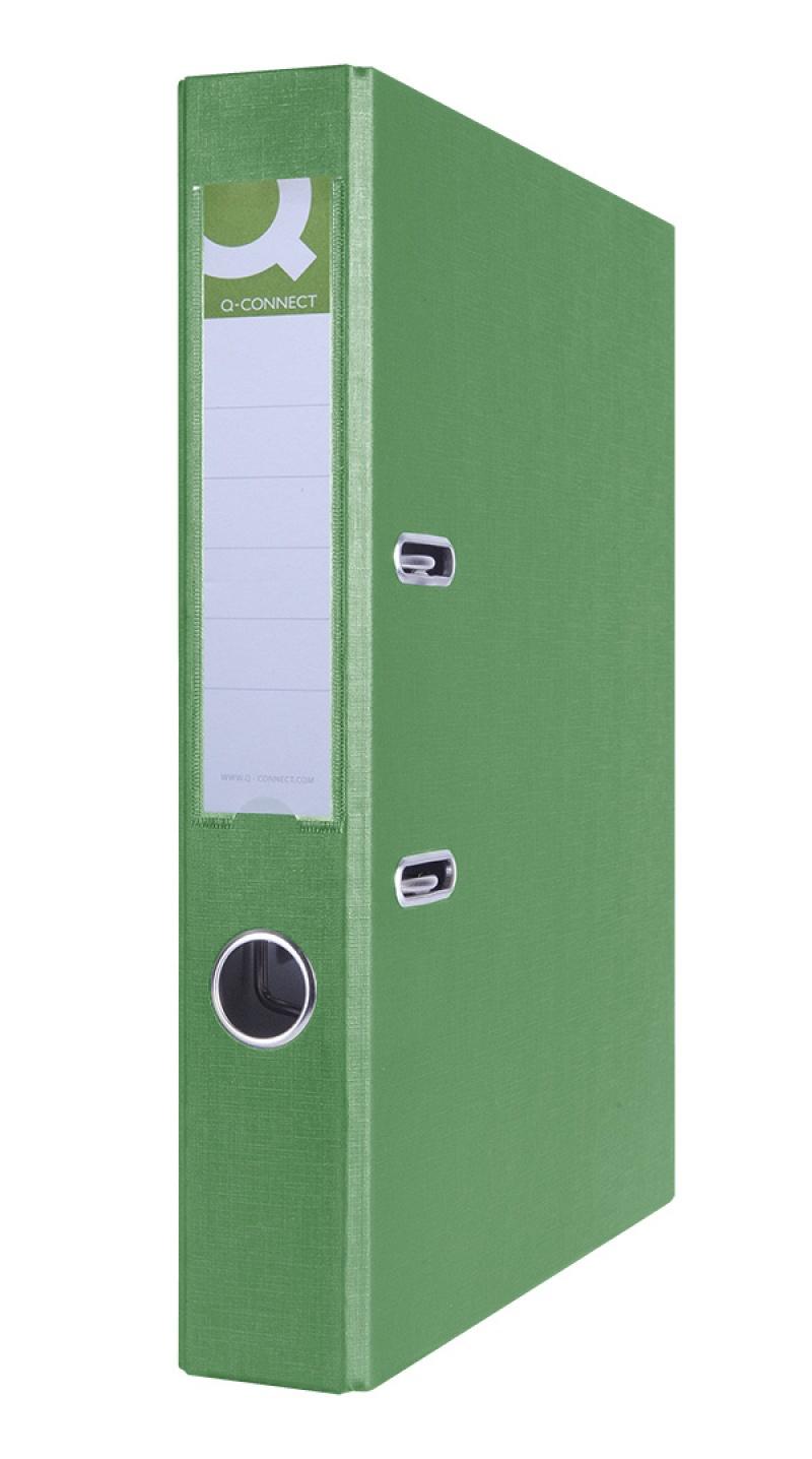 Segregator Q-CONNECT Hero, PP, A4/55mm, zielony, Segregatory polipropylenowe, Archiwizacja dokumentów