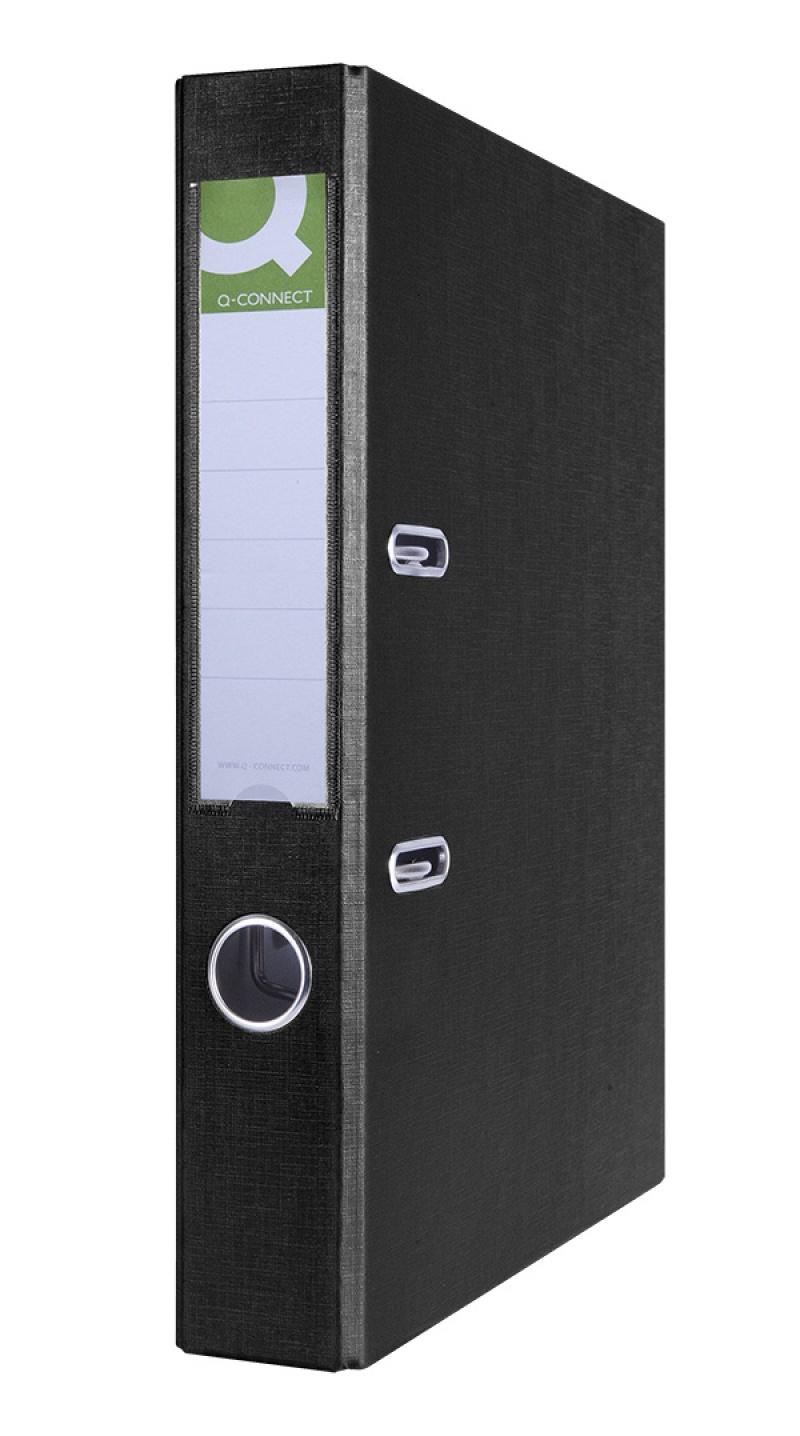 Segregator Q-CONNECT Hero, PP, A4/55mm, czarny, Segregatory polipropylenowe, Archiwizacja dokumentów