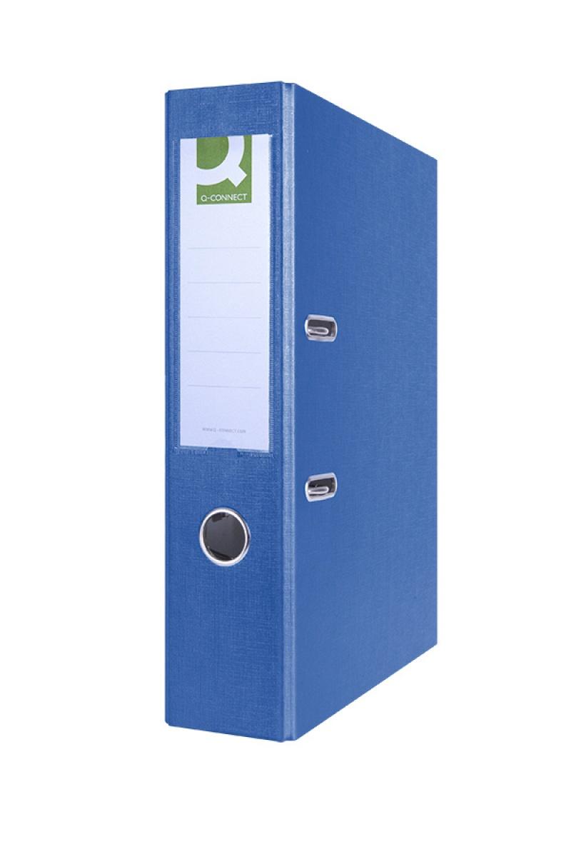Segregator Q-CONNECT Hero, PP, A4/75mm, niebieski, Segregatory polipropylenowe, Archiwizacja dokumentów