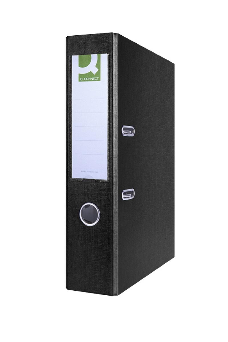 Segregator Q-CONNECT Hero, PP, A4/75mm, czarny, Segregatory polipropylenowe, Archiwizacja dokumentów