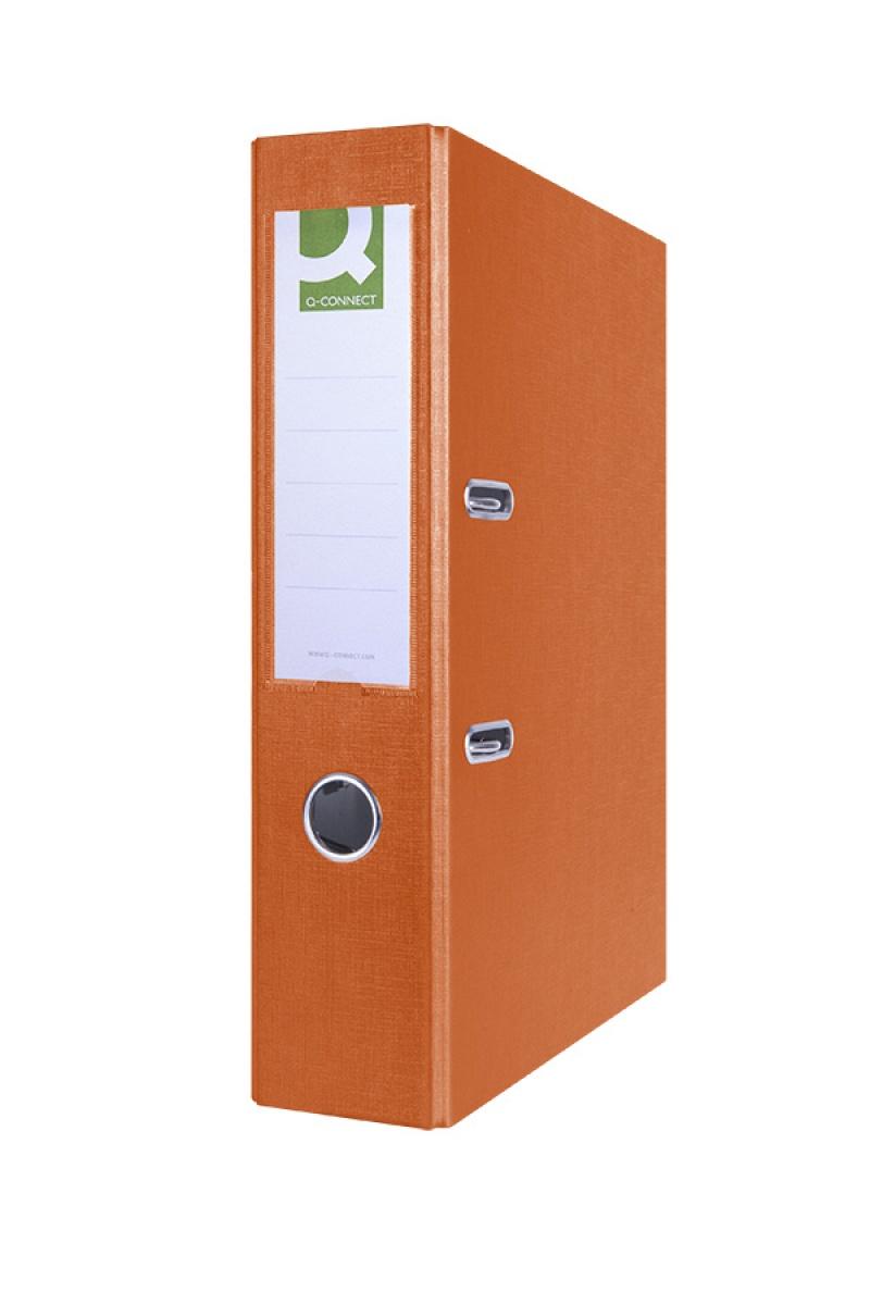 Segregator Q-CONNECT Hero, PP, A4/75mm, pomarańczowy, Segregatory polipropylenowe, Archiwizacja dokumentów