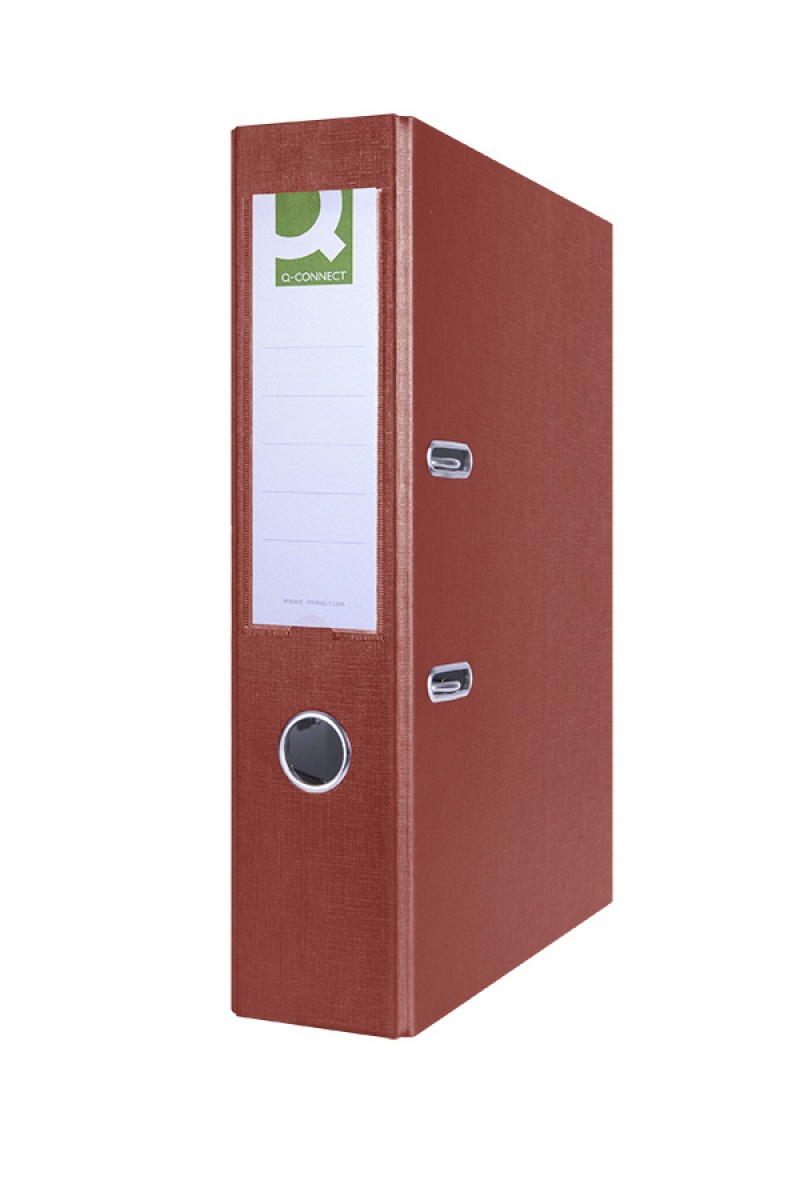 Segregator Q-CONNECT Hero, PP, A4/75mm, bordowy, Segregatory polipropylenowe, Archiwizacja dokumentów
