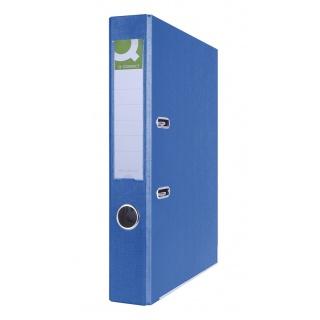 Segregator Q-CONNECT Hero z szyną, PP, A4/55mm, niebieski, Segregatory polipropylenowe, Archiwizacja dokumentów