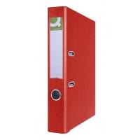 Segregator Q-CONNECT Hero z szyną, PP, A4/55mm, czerwony, Segregatory polipropylenowe, Archiwizacja dokumentów