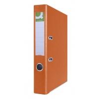 Segregator Q-CONNECT Hero z szyną, PP, A4/55mm, pomarańczowy