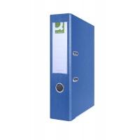 Segregator Q-CONNECT Hero z szyną, PP, A4/75mm, niebieski, Segregatory polipropylenowe, Archiwizacja dokumentów