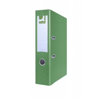 Segregator Q-CONNECT Hero z szyną, PP, A4/75mm, zielony, Segregatory polipropylenowe, Archiwizacja dokumentów