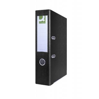 Segregator Q-CONNECT Hero z szyną, PP, A4/75mm, czarny, Segregatory polipropylenowe, Archiwizacja dokumentów