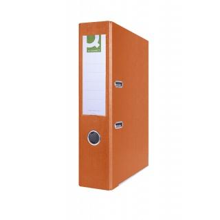 Segregator Q-CONNECT Hero z szyną, PP, A4/75mm, pomarańczowy, Segregatory polipropylenowe, Archiwizacja dokumentów