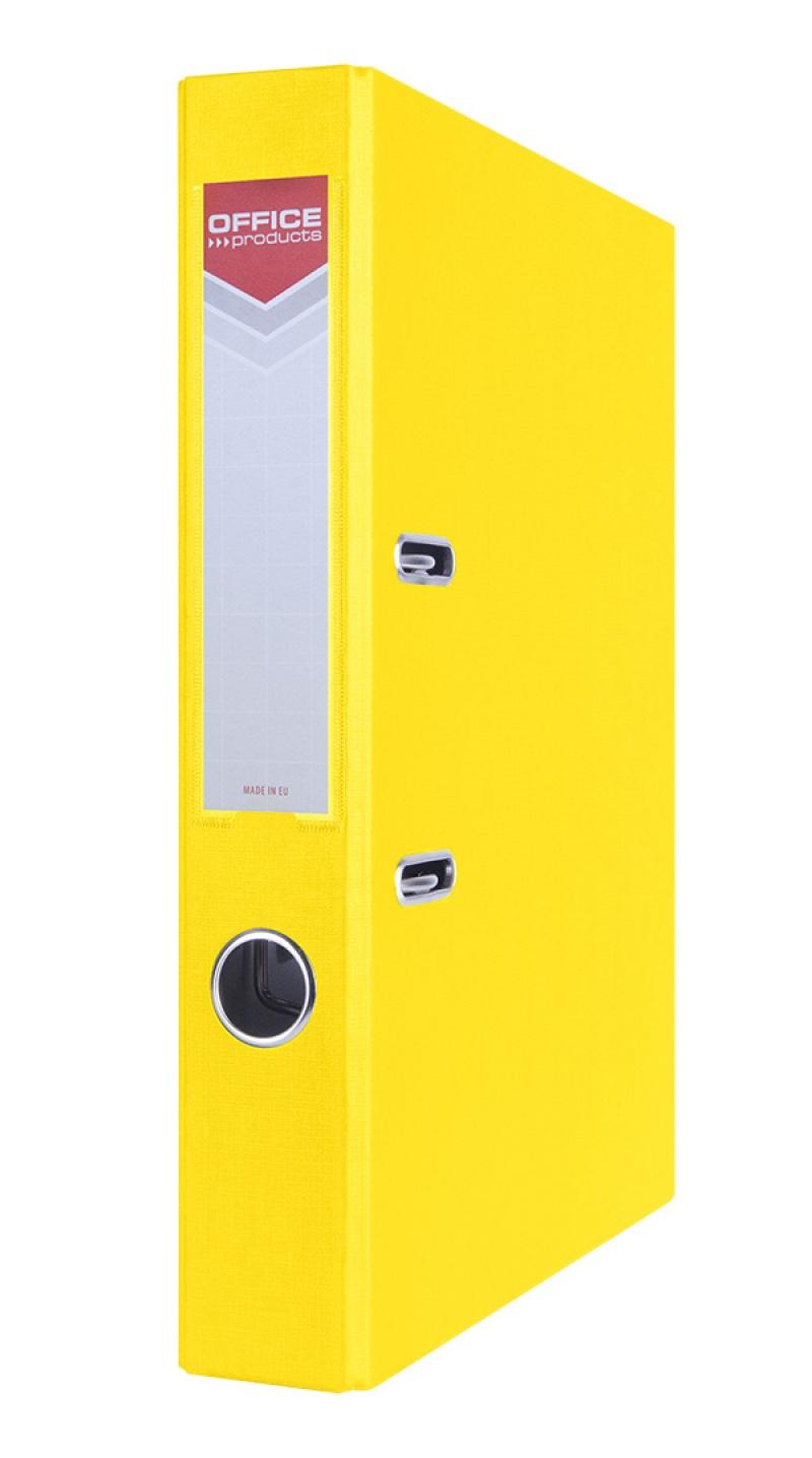Segregator OFFICE PRODUCTS Officer, PP, A4/55mm, żółty, Segregatory polipropylenowe, Archiwizacja dokumentów