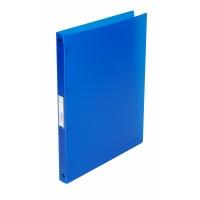 Segregator ringowy Q-CONNECT, PP, A4/4R/16mm, transparentny niebieski, Segregatory ringowe, Archiwizacja dokumentów