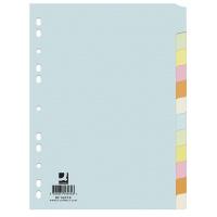 Przekładki Q-CONNECT, karton, A4, 223x297mm, 12 kart, mix kolorów