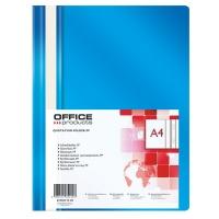 Skoroszyt OFFICE PRODUCTS, PP, A4, miękki, 100/170mikr., niebieski