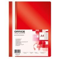 Skoroszyt OFFICE PRODUCTS, PP, A4, miękki, 100/170mikr., czerwony, Skoroszyty podstawowe, Archiwizacja dokumentów