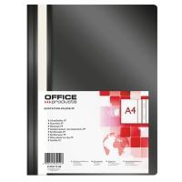Skoroszyt OFFICE PRODUCTS, PP, A4, miękki, 100/170mikr., czarny