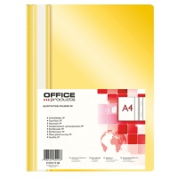 Skoroszyt OFFICE PRODUCTS, PP, A4, miękki, 100/170mikr., żółty