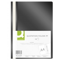 Report File Q-CONNECT, PP, A4, soft, 120/180 micron, black