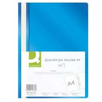 Report File Q-CONNECT, PP, A4, soft, 120/180 micron, blue