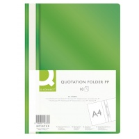 Report File Q-CONNECT, PP, A4, soft, 120/180 micron, green