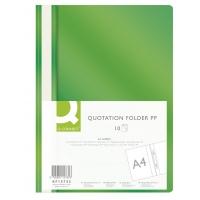 Skoroszyt Q-CONNECT, PP, A4, miękki, 120/180mikr., zielony, Skoroszyty podstawowe, Archiwizacja dokumentów