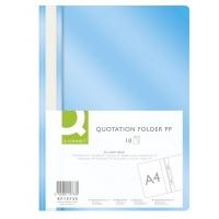 Skoroszyt Q-CONNECT, PP, A4, miękki, 120/180mikr., jasnoniebieski, Skoroszyty podstawowe, Archiwizacja dokumentów