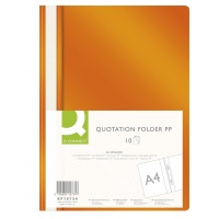 Report File Q-CONNECT, PP, A4, soft, 120/180 micron, orange