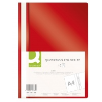 Report File Q-CONNECT, PP, A4, soft, 120/180 micron, red