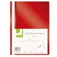 Skoroszyt Q-CONNECT, PP, A4, miękki, 120/180mikr., czerwony, Skoroszyty podstawowe, Archiwizacja dokumentów
