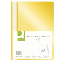 Report File Q-CONNECT, PP, A4, soft, 120/180 micron, yellow