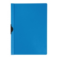 Skoroszyt z metalowym klipsem PP A4 200/350mikr. niebieski, Skoroszyty pozostałe, Archiwizacja dokumentów