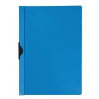 Clip Report File Q-CONNECT, metal clip, PP, A4, 200/350 micron, blue