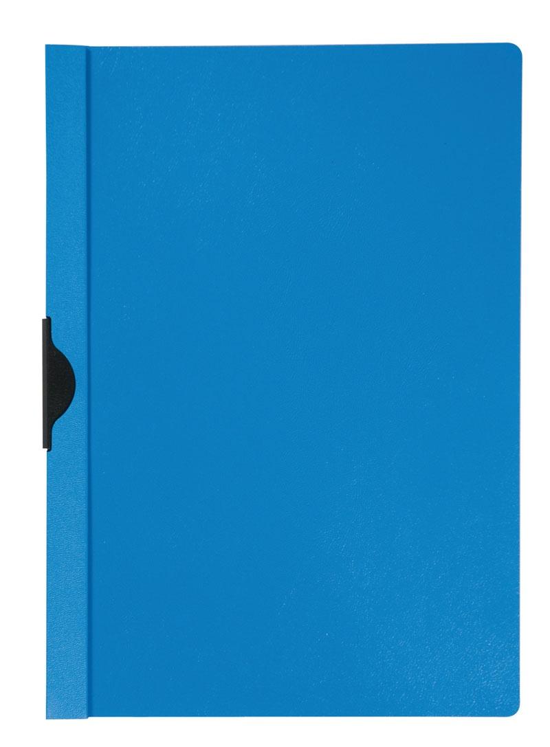 Skoroszyt Q-CONNECT z metalowym klipsem, PP, A4, 200/350mikr., niebieski, Skoroszyty pozostałe, Archiwizacja dokumentów